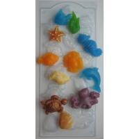 Морское ассорти, форма для мыла пластиковая
