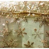 Сумочка органза 12,5*16,5 см Золотые снежинки