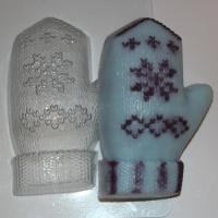 Варежка, форма пластиковая