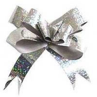 Бант-бабочка 12*250, голография серебро