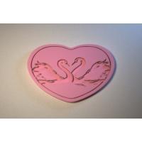 Силиконовый текстурный вкладыш Сердце 02