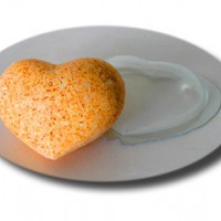 Сердце Большое, Комплект Из 2 Форм , форма для мыла пластиковая