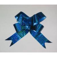 Бант-бабочка 15*300, голография синий