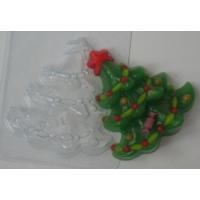 Елка украшенная, форма для мыла пластиковая
