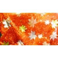 Лист подарочный кленовый лист, голография, 70*100см