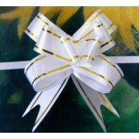 Бант-бабочка 15*300, белый с полосой