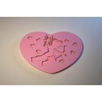 Силиконовый текстурный вкладыш Сердце 05