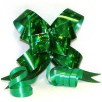 Бант-бабочка 12*250, голография зеленый