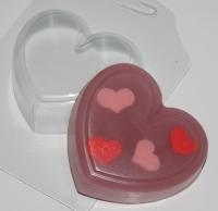 Сердце, форма пластиковая