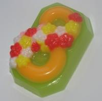 8 марта ЕХ, форма для мыла пластиковая, 3шт