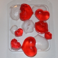 Сердечки - поцелуйчики, форма для мыла пластиковая