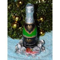 Бутылка Шампанского 3D, форма для мыла силиконовая