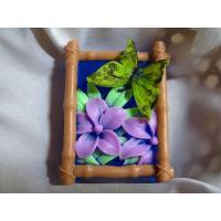 Бабочка на цветке 2D, силиконовая форма