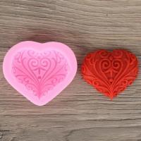 Кованое сердце, форма силиконовая