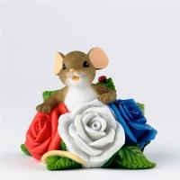 Мышка в розах 3D, Форма силиконовая