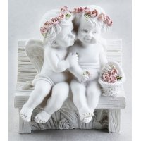 Ангелы на лавочке 3D, форма силиконовая
