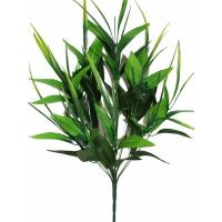 Нога для букета с листьями лилии и усами 10 групп 56 см, 1 шт