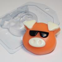 Хрюшка - Мордашка / в очках EX, 1шт,  форма пластиковая
