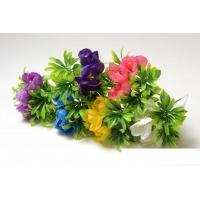 Букет крокусов на листьях самшита, цвет: микс, 1 шт
