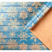 """Бумага крафт """"Снежинки на дереве"""" 50*70 см, 1 лист"""