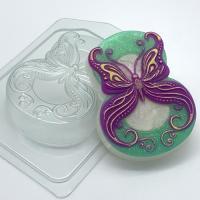 8 марта/Бабочка в завитушках, 1 шт, форма пластиковая