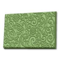 Узор с цветами (текстурный лист) ТД, 1 шт, форма пластиковая