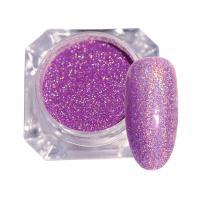 Блестки (глиттер) фиолетовый голография, 100 гр