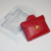 Портфель кожаный ЕХ, 1 шт, форма пластиковая