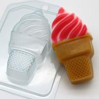 Мороженое / Мягкое в стаканчике EX, 1шт, форма пластиковая
