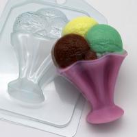 Мороженое / Шарики в креманке EX, 1 шт, форма пластиковая