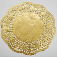 Салфетка d 9 см золото, 1 упаковка (250шт)