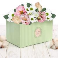 """Коробка для букета """"Верь в счастье"""" 12*17*10 см"""