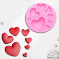 Сердечки мини 8 шт на листе, форма силиконовая