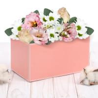 """Коробка для букета """"Персиковая нежность"""" 12*17*10 см, 1 шт"""
