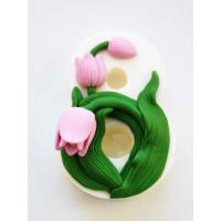 8 марта № 13 (тюльпан) 2D, форма силиконовая
