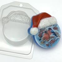 Круг в новогодней шапке ЕХ, 1 шт, форма пластик