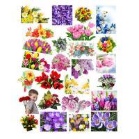 Водорастворимая бумага 8 марта Цветы №2, 1 лист
