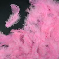 Перья розовые 4*8 см, набор 100 шт