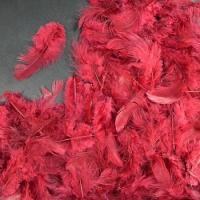 Перья бордовые 4*8 см, набор 100 шт
