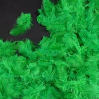 Перья зелёные 4*8 см, набор 100 шт
