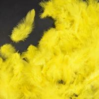 Перья желтые 4*8 см, набор 100 шт