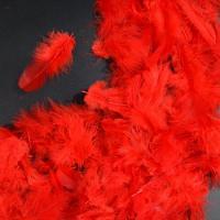 Перья красные 4*8 см, набор 100 шт