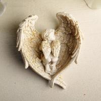 Ангелочек спит в крыльях 3D, форма силиконовая