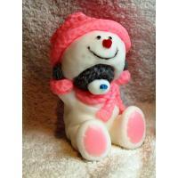 Мишка в костюме Снеговика 3D, форма силиконовая