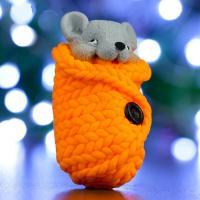 Мышонок в пледе 3D, форма силиконовая