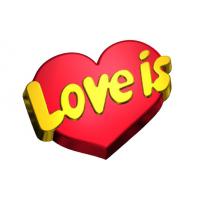 Love is БП, 1 шт, форма пластик