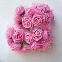 Розы из флоумерана розовые