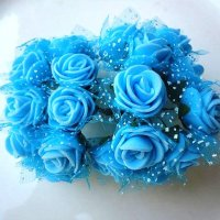 Розы из флоумерана голубые