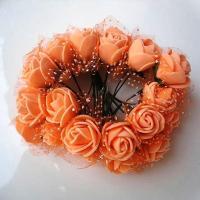 Розы из флоумерана оранжевые