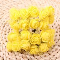 Розы из флоумерана желтые
